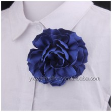 ZQF0022 fashion costume jewelry 10cm big fabric flower brooches pin for meeting feast men suit and corsage