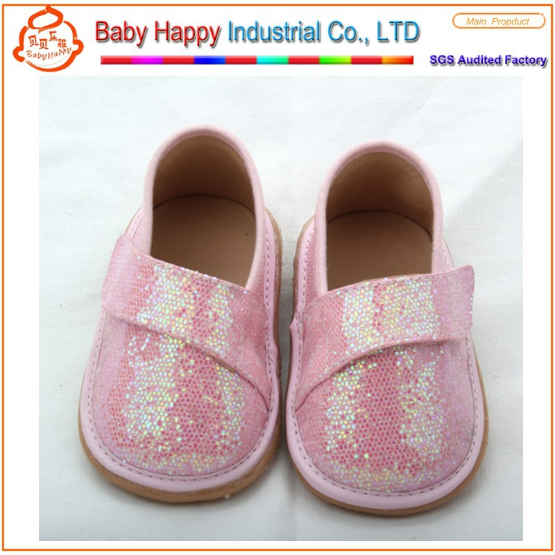2015 fashion gold soft sequin crochet girls baby dress shoes for kid