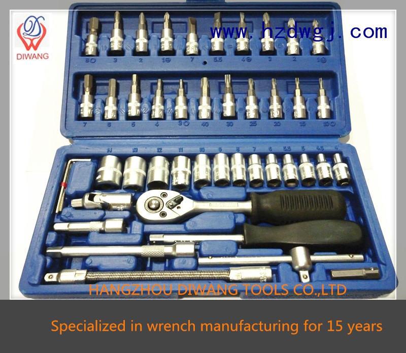 "china professional household 46pcs socket set (1/4"")"