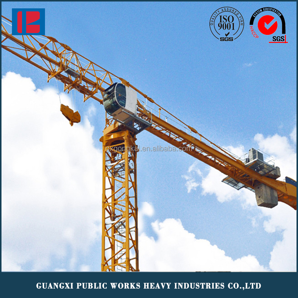 QTZ 63 (5610) under-frame stationary type travelling construction tower crane