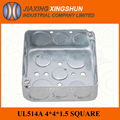 Hot selling 4*4 Square Waterproof Electrical Galvanized Steel Telephone Junction Box