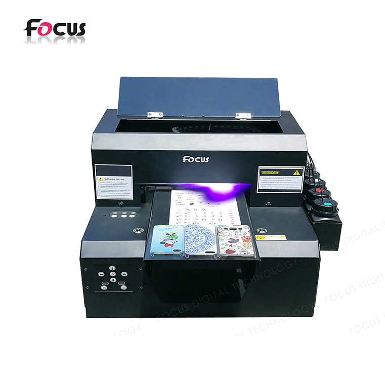 small size A4 Digital UV Flatbed Printer For Phone Case Printing