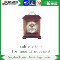 solid wood cheap desk clock for quartz movement