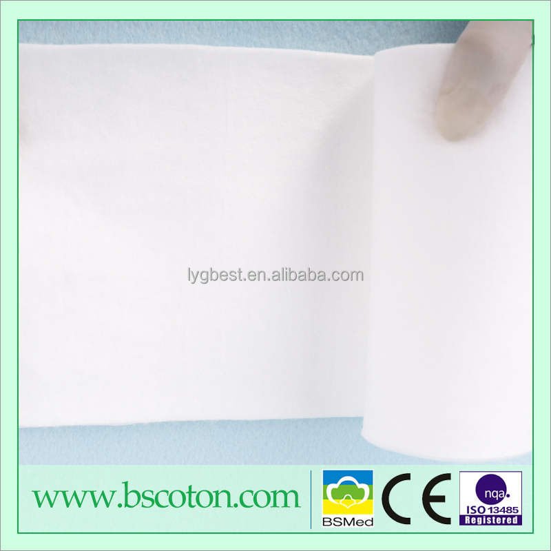 Bleached Hydrophilic Medical 100% Cotton Wool With Nonwoven