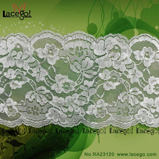 Wholesale Inelasticity Rigid Nylon Lace Trimming Polyester Lace Trim