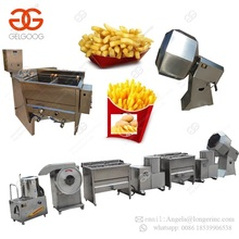 Factory Semi Automatic Potato Crisp Fresh Frozen French Fries Frying Production Line Small Scale Potato Chips Making Machine