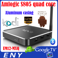 KODI EM12 MXQ Bluetoooth 4.0 Amlogic S805 Quad core Android best tv box digital receiver software download