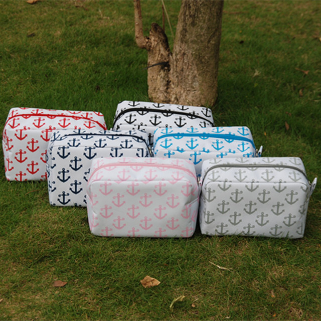 Free shipping 6 Colors Anchor Makeup Bag Rectangle Cosmetic Bags DOM104224