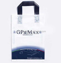 Soft-loop Style and plastic Material resealable plastic bags with handle