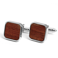 New Fashion Mens Wood Cufflinks Custom Made Cuff Links