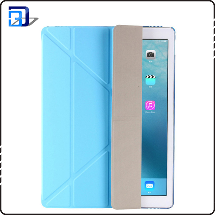 Newest 9.7 inch tablet case folding holder leather tpu smart case for ipad 9.7
