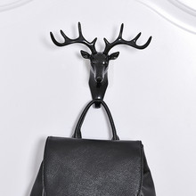 Fashion Stereoscopic Wall Hanging Plastic <strong>Hook</strong> Deer Head Scratch Key Clothes Rails <strong>Hooks</strong>