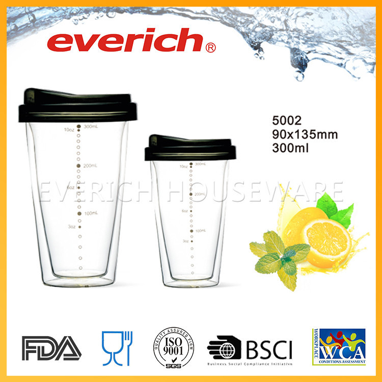 Durable using leak-proof cheap glass cup