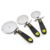 Stainless steel+PP+TPR pizza cutter wheel pizza slicer cutter 3 pieces set