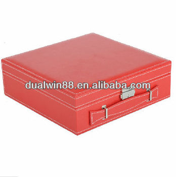 Fashionable cosmetic box pu make up box