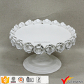 White Floral Shabby Chic Metal Antique Cake Plate
