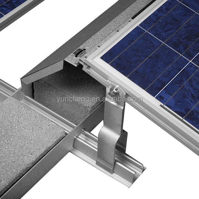 Aluminum Alloy Extrusion Profile Solar Panel Frame Bracket Clamps