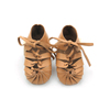 Real Leather Sandals Gladiator Bandage Roma Knee-high Shoes Baby Girls Summer Shoes
