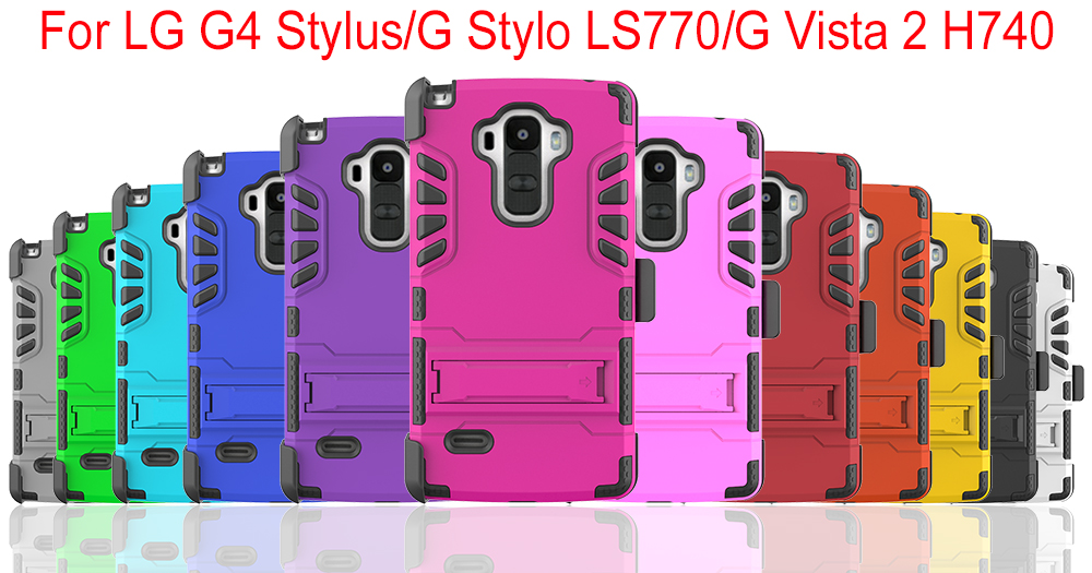 Factory Wholesale Smart Phone Case Cover Heavy Duty Combo Stand Case For LG LS770
