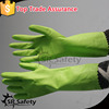 SRSAFETY green PVC dipped long safety gloves pvc safety gloves manufacturer