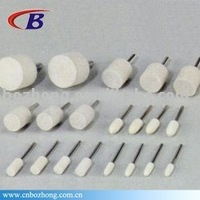 White Colour Wool Felt with shaft