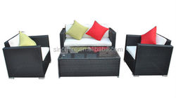 KD 4pcs outdoor garden patio rattan furniture china supplier