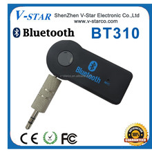 Bluetooth 3.0 <strong>portable</strong> 3.5mm car audio receiver with built-in battery