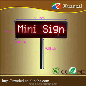 Cheap 20% Hand held built in lithium battery High Brightness Red dot matrix LED Placard/paging board