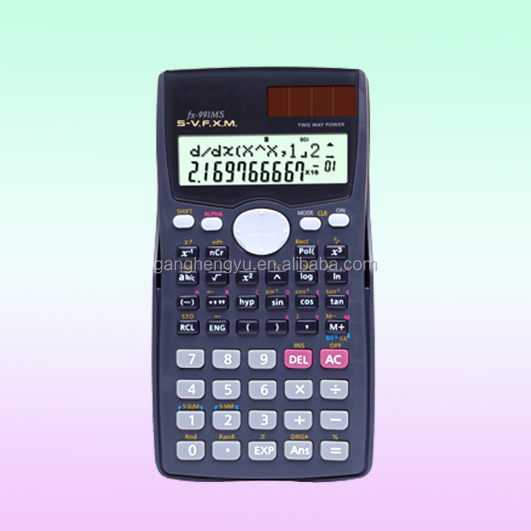 Hot Sale Cheap Examination Student High-tech 2-Line Scientific Calculator FX-991MS