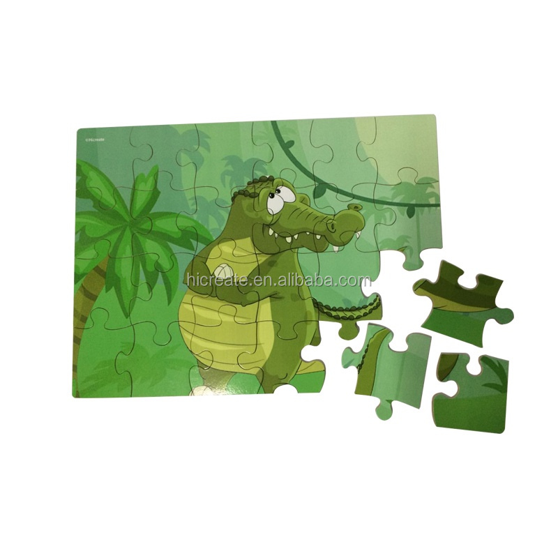 Alligator educational puzzle