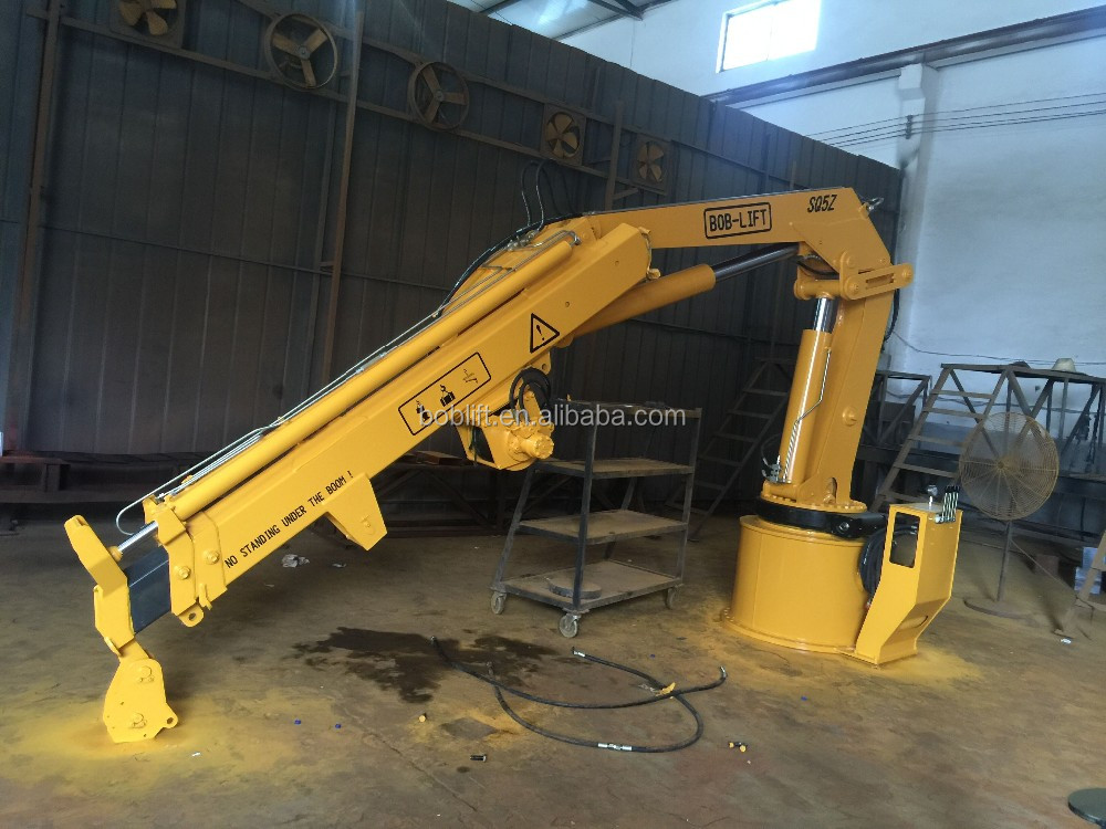 Swing Arm Lift For Pickup : Small mini used portable hydraulic swing arm lift crane