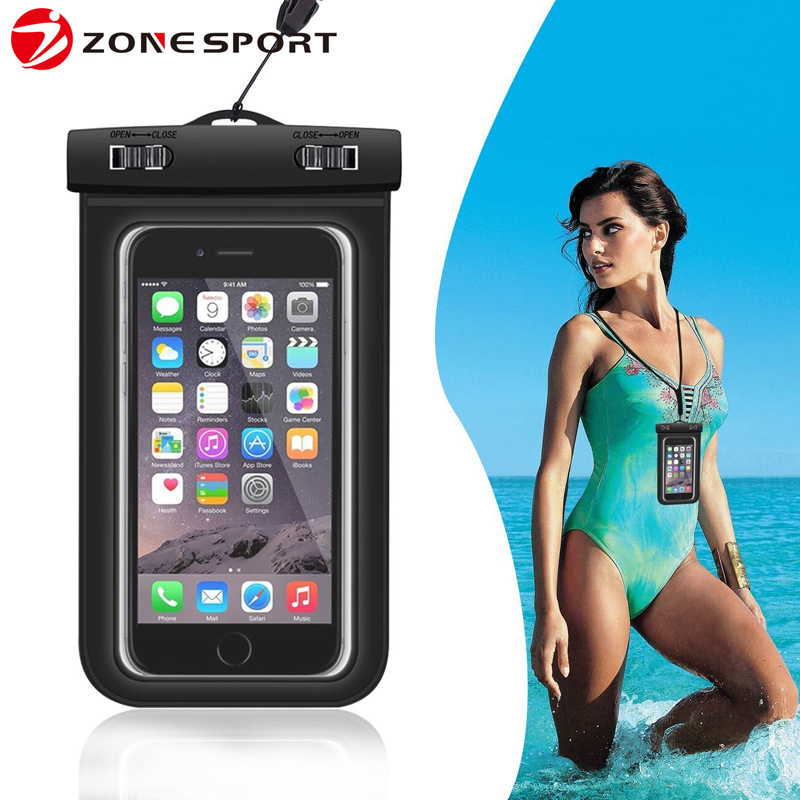 2017 China Factory Universal PVC Waterproof Phone Bag for iPhone 7 With All Touch Function Workable