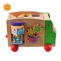 Wooden Multifunctional kids toy car Shape Sorter Wooden Preschool Learning game Educational Toddler toy car