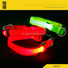 LED Nylon Pet Dog Cat Collar Night Safety LED Light-up Flashing Glow in the Dark Lighted Dog Collars