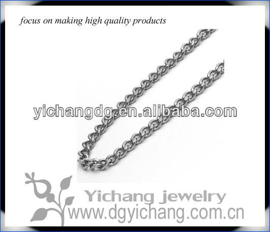 3MM Stainless Steel Chain Necklaces Cuban Link Curb Chain
