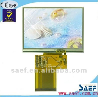 3.5 inch 320 x 240 LQVGA TFT LCD Display with Touch Panel and Color Display