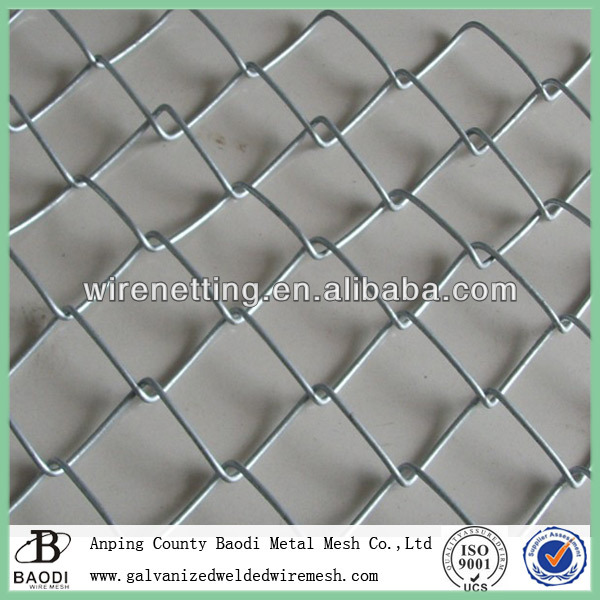 woven diamond galvanized electro chain link fence