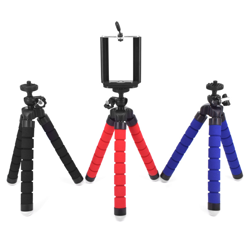 Mini Flexible Sponge Octopus Tripod Holder Mount Adapter for Mobile <strong>Phone</strong> Smartphone