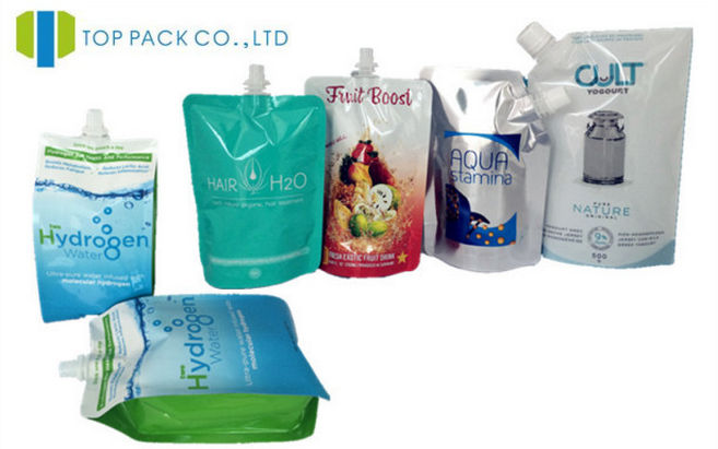 Glossy custom printing whey protein packaging bags