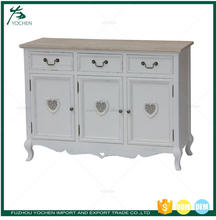 White Painted Wooden Sideboard Cupboard French Furniture Wholesale