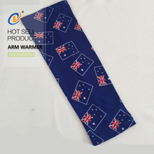 Hot sale football fans Australia uv sun protection wholesale printed arm sleeves