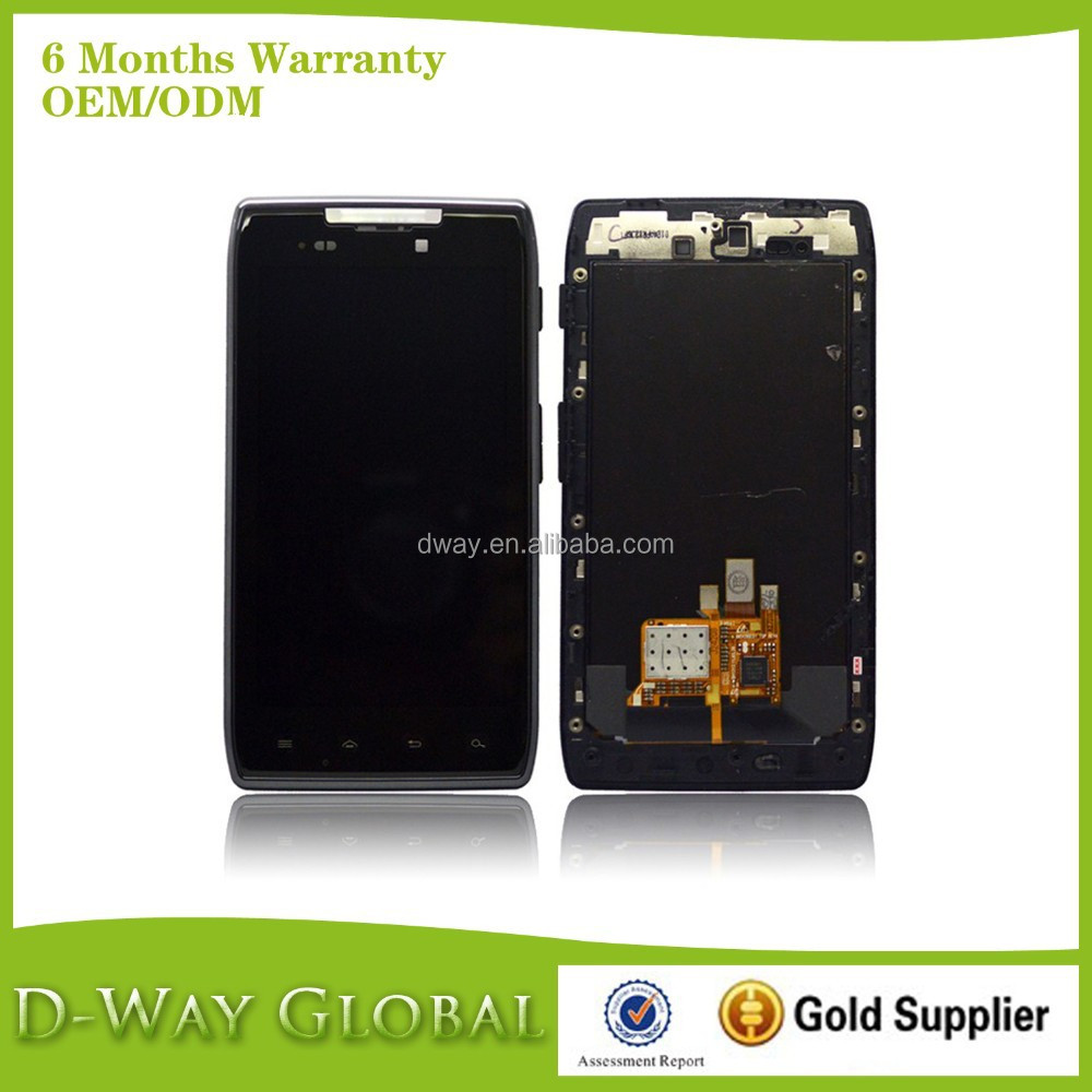 Sincere Service Display For Motorola, LCD With Frame For Motorola XT910, For Motorola XT910 LCD Screen