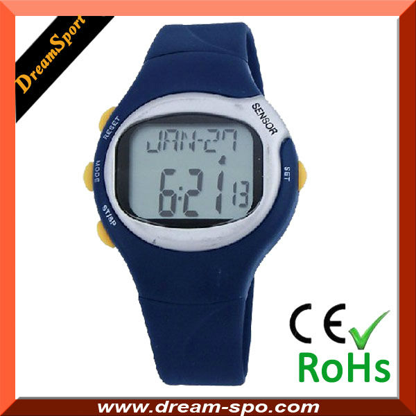 Hot selling finger touch infrared sensor pulse watch /heart rate monitor