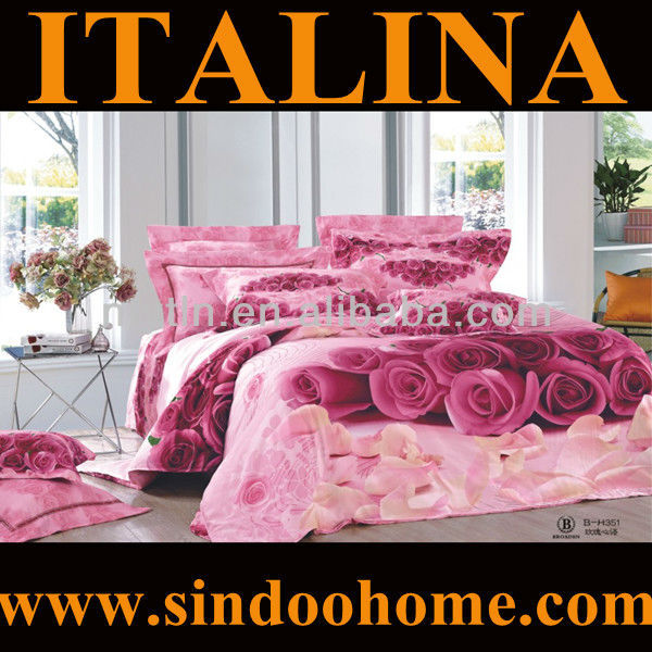 romantic pink rose wholesale bedding