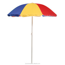 Promotional beach umbrella wholesale patio market umbrella UPF cheap sunshade UV beach parasols
