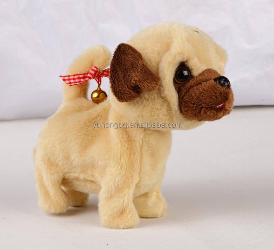 Mini walking and barking dog mechanical plush toys