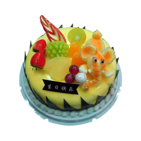 Decorative birthday cake for display