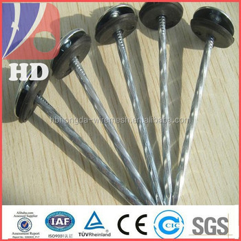 Smooth shank roofing nail with umbrella head manufacturer