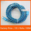 High Quality OEM Fabric Nylon Braided USB Charger Cable Data for iPhone 5 5S 2M