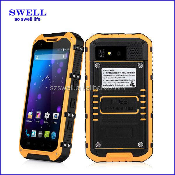 rugged smartphone 5 nfc 4.3inch android4.4 MTK6582 IP68 for mobile phone
